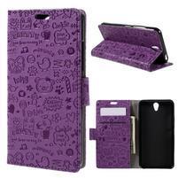 Cartoo peňaženkové puzdro pre Lenovo Vibe S1 - fialové
