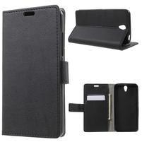 Peňaženkové puzdro pre mobil Lenovo Vibe S1 - čierné