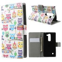 Peňaženkové puzdro na LG Spirit - soví rodina