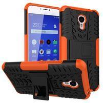 Outdoor odolný kryt na mobil Meizu M3 note - oranžový