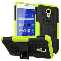 Outdoor odolný kryt pre mobil Meizu M3 note - zelený