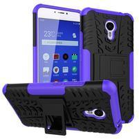 Outdoor odolný kryt pre mobil Meizu M3 note - fialový
