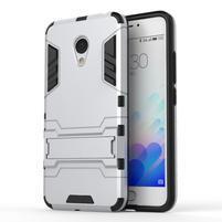 Armour odolný obal na mobil Meizu M3 note - stříbrný