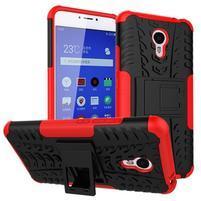 Outdoor odolný kryt pre mobil Meizu M3 note - červený