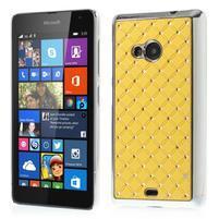 Drahokamový kryt na Microsoft Lumia 535 - žltý
