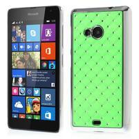 Drahokamový kryt pre Microsoft Lumia 535 - zelený