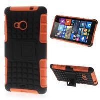 Vysoce odolný obal pre Microsoft Lumia 535 - oranžový