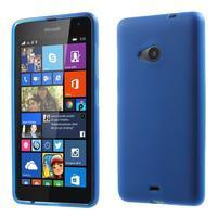Matný gélový obal Microsoft Lumia 535 - modrý