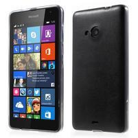 Ultra tenký kožený kryt pre Microsoft Lumia 535 - čierny