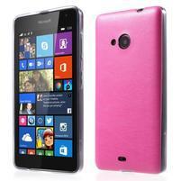 Ultra tenký kožený kryt pre Microsoft Lumia 535 - rose