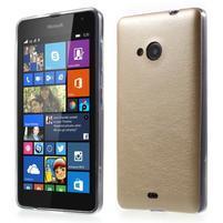 Ultra tenký kožený kryt pre Microsoft Lumia 535 - champagne
