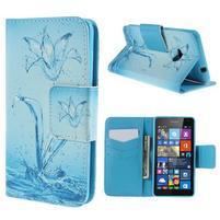 Peňaženkové puzdro Microsoft Lumia 535 - vodný kvet