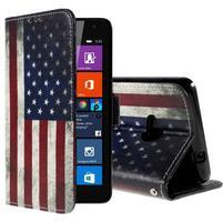 Peňaženkové puzdro Microsoft Lumia 535 - US vlajka