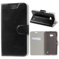 Čierné peňaženkové puzdro na Microsoft Lumia 640 LTE