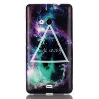 Soft gélový obal pre mobil Microsoft Lumia 535 - triangl