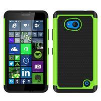 Odolný hybrdiní kryt na mobil Microsoft Lumia 640 - zelený