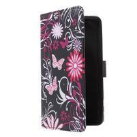 Cross peňaženkové puzdro pre Huawei Honor 7 - čarovné motýľe