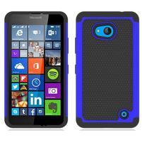 Odolný hybrdiní kryt na mobil Microsoft Lumia 640 - modrý