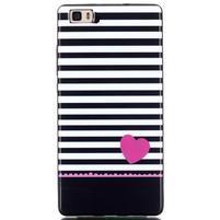 Gelový obal na mobil Huawei Ascend P8 Lite - srdce