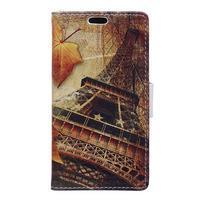 Peňaženkové puzdro pre mobil Microsfot Lumia 550 - Eiffelova veža