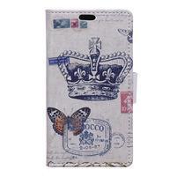 Peňaženkové puzdro na mobil Microsfot Lumia 550 - královská koruna