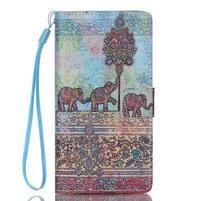 Peňaženkové puzdro Huawei Ascend P8 Lite - sloníci