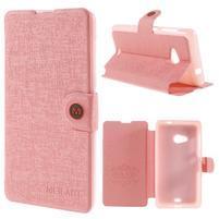 Solid puzdro pre mobil Microsoft Lumia 535 - ružové