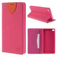 Style peňaženkové puzdro na Huawei Ascend P8 - rosa