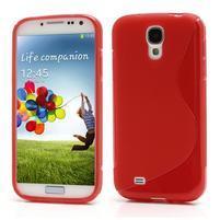 S-line gélový obal na Samsung Galaxy S4 - červený