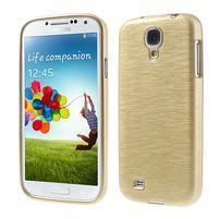 Gélový kryt s brúseným vzorem pre Samsung Galaxy S4 - zlatý
