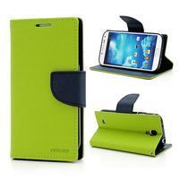 Fancy peňaženkové puzdro na Samsung Galaxy S4 - zelené