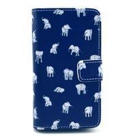 Peňaženkové puzdro na Huawei Ascend Y300 - banda slonů