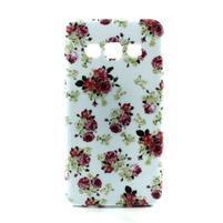 Gélový kryt pre Samsung Galaxy A3 - kvety