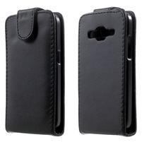 Černé flipové puzdro pre Samsung Galaxy Core Prime