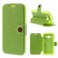 Zapínací peňaženkové puzdro pre Samsung Galaxy Core Prime - zelené