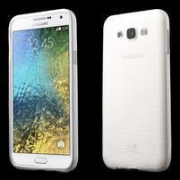 Brúsený gélový obal pre Samsung Galaxy E7 - biely