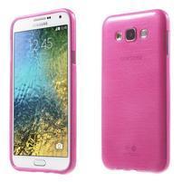 Brúsený gélový obal pre Samsung Galaxy E7 - rose