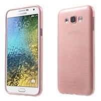 Broušený gélový obal pre Samsung Galaxy E7 - růžový