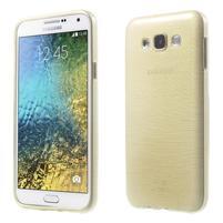 Broušený gélový obal pre Samsung Galaxy E7 - champagne
