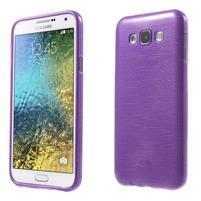 Brúsený gélový obal pre Samsung Galaxy E7 - fialový