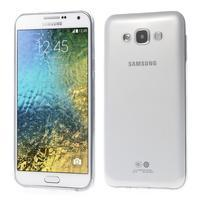 Ulta tenký obal pre Samsung Galaxy E7 - transparentný