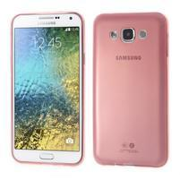 Ulta tenký obal pre Samsung Galaxy E7 - červený