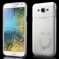 Plastový kryt pre mobil Samsung Galaxy E7 - transparentný