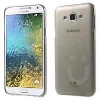 Plastový kryt na mobil Samsung Galaxy E7 - šedý