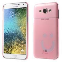 Plastový kryt na mobil Samsung Galaxy E7 - růžový