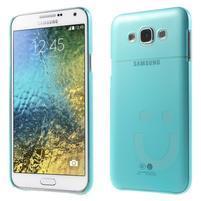 Plastový kryt pre mobil Samsung Galaxy E7 - tyrkysový