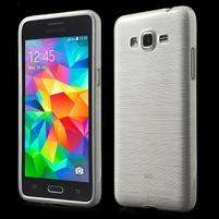 Broušený gélový obal pre Samsung Galaxy Grand Prime -  biely