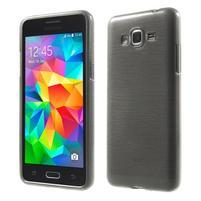 Broušený gélový obal pre Samsung Galaxy Grand Prime - šedý