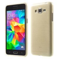 Broušený gélový obal pre Samsung Galaxy Grand Prime - zlatý