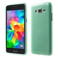 Broušený gélový obal pre Samsung Galaxy Grand Prime - cyan